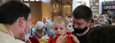 Епископ Губкинский в день пророка Илии совершил Божественную литургию в храме во имя блаженной Ксении Петербургской