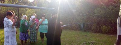 Молебен у поклонного креста в честь разрушенного храма Серафима Саровского состоялся в Пристени