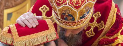Митрополит Белгородский совершил Божественную литургию в храме Почаевской иконы Божией Матери