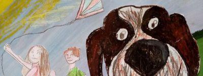 Старооскольские православные гимназисты освоили кляксографию и представили рисунки  на выставку «СамоИЗОляция» городского художественнного музея