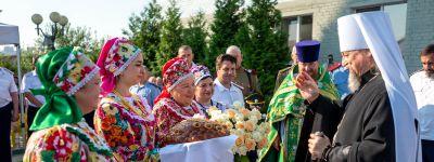 Митрополит Белгородский в день Сергия Радонежского совершил Божественную литургию в Сергиевском казачьем храме в Белгороде