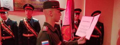 Священник принял присягу молодых солдат