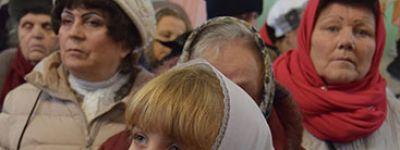 Митрополит Белгородский совершил Божественную литургию в Александро-Невском кафедральном соборе в Старом Осколе
