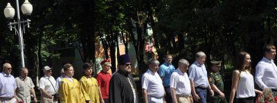 Губкинский благочинный 22 июня совершил  литию по воинам, «за веру и Отечество на поле брани жизнь свою положившим»