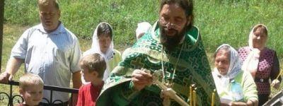 Богослужение в часовне Пресвятой Троицы прошло в Самарино