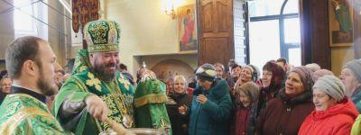 Епископ Губкинский и Грайворонский Софроний совершил Божественную литургию в престольный праздник в Красной Яруге
