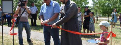 Матушка настоятеля храма в Варваровке при поддержке президентского гранта создала в селе спортплощадку
