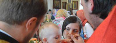 Епископ Губкинский совершил Божественную литургию в Сретенском храме города Строитель
