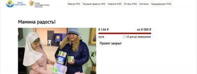 С помощью краудфандинговой платформы белгородское сестричество милосердия для семей с маленькими детьми собрало  8146 рублей