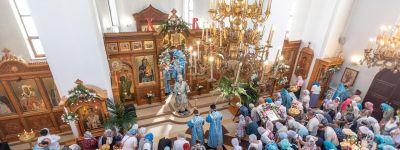 Белгородцы совершили крестный ход в праздник Почаевской иконы Божией Матери