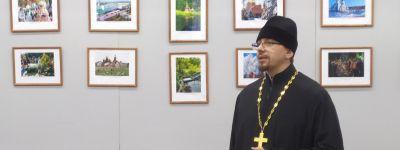Клирик Спасо-Преображенского кафедрального собора пожелал участникам выставки «Губкин – судьба моя» как можно чаще радовать своим творчеством