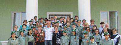 В Центре «Русский мир» в Дмитриевке школьники встретились с русским воином