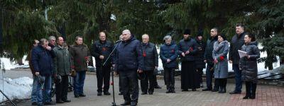 Прохоровский благочинный выступил на митинге в честь ветеранов «горячих точек»