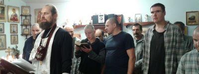 Отец Сергий совершил Таинство Крещения среди мужчин, находящихся на лечении в Грайворонской психиатрической больнице