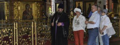 Представители главного оркестра русской армии побывали в Спасо-Преображенском соборе в Губкине