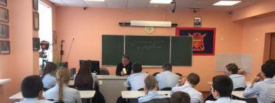 «О духовном здоровье и добродетели» поговорили с батюшкой ребята из казачьего класса в Валуйках