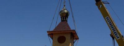 Купола и крест для нового храма освятили в селе Бирюч