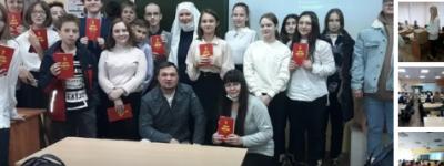 Белгородские православные добровольцы рассказали школьникам о личном опыте обретения веры и о милосердии Христа