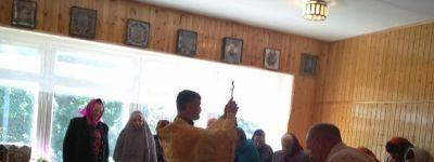 Водосвятный молебен совершили в обновлённой молельной комнате в селе Большое