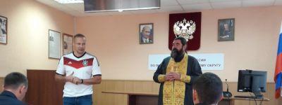 Яковлевский благочинный пожелал помощи Божией полицейским, отправившимся в командировку на Северный Кавказ