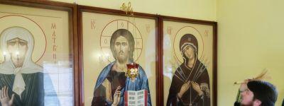 Освящение икон Спасителя и Божией Матери, приобретённых рабочими Комбината «КМАруда», состоялось в часовне Матроны Московской на шахте
