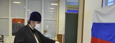 Настоятель Спасо-Преображенского кафедрального собора Губкина проголосовал за поправки в Конституцию