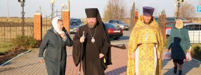 Епископ Губкинский совершил литургию в  храме апостола и евангелиста Иоанна Богослова