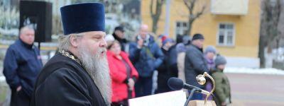 Священник поздравил новобранцев части «Белгород-22» с принятием военной присяги