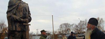 Клирик храма святителя Тихона Задонского совершил молебен у памятника воинам Великой Отечественной в Нижней Серебрянке