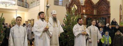 Епископ Валуйский совершил торжественную Божественную литургию в Свято-Троицком кафедральном соборе в городе Алексеевка