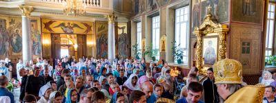 Божественную литургию в Спасо-Преображенском кафедральном соборе Белгорода совершил Митрополит Белгородский