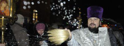 Праздник Богоявления встретили в самом большом храме Белгородской митрополии в Губкине