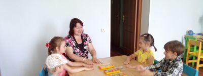 Занятие с дошкольниками  по развитию  внимания и памяти провели в православном детском центре в Губкине