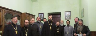 В храме Новомучеников и исповедников Белгородских города Строитель состоялось собрание духовенства 1-го Яковлевского благочиния