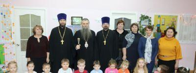 Епископ Валуйский навестил детский сад «Радуга» в Вейделевке, в котором действуют 2 православные группы