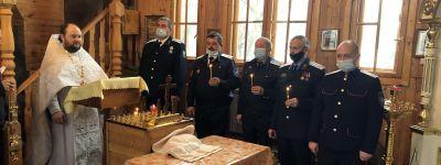 Панихиду по казакам, убиенным по «Декрету о расказачивании», совершили в храме в селе Айдар