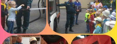 Воспитанники групп «Солнышко» и «Топтыжки» белгородского православного детского сада побывали в гостях у пожарных