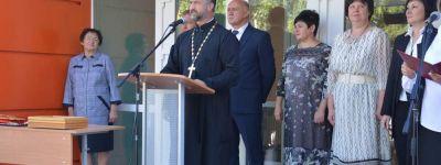 Открытие обновлённой школы в Камызино благословил настоятель Свято-Духовского храма