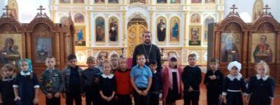 Второклассники из Ливенки побыли в храме Успения Пресвятой Богородицы