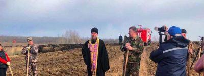 Борисовский благочинный принял участие в закладке Парка Победы в районном центре