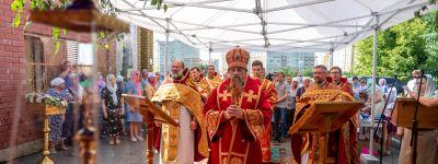 Митрополит Белгородский совершил Божественную литургию в храме Царственных Страстотерпцев города Белгорода