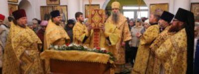 Епископ Валуйский совершил Божественную Литургию в храме Иоанна Златоуста