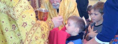 Божественную Литургию для воспитанников православного детского сада «Сретенский» совершили в храме Сретенья Господня в Строителе