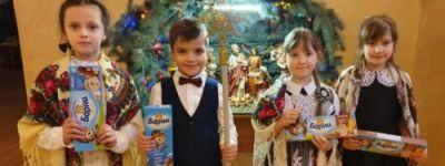 Дети воскресной школы храма Казанской иконы Божьей Матери прославили рожденного младенца – Иисуса Христа