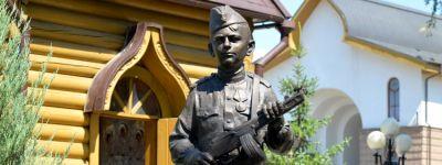 Скульптуру «Сын полка» открыли на территории белгородского храма