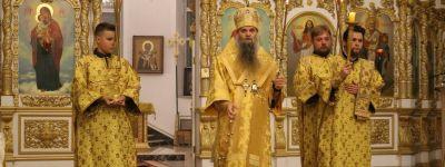 Епископ Валуйский возглавил Всенощное бдение в Свято-Николаевском соборе