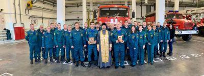 На территории АО «Лебединский ГОК» состоялось освящение пожарной части № 57
