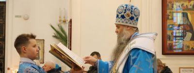 Епископ Валуйский совершил Божественную литургию в Свято-Николаевском кафедральном соборе в праздник Введения во храм Пресвятой Богородицы