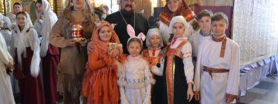 Рождественский утренник провели  в воскресной школе Спасо-Преображенского собора в Губкине