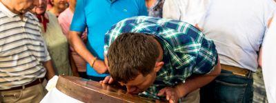 В канун праздника Вознесения Господня белгородский митрополит совершил всенощное бдение в Вознесенском храме села Стрелецкое